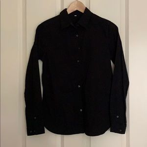Muji black cotton shirt